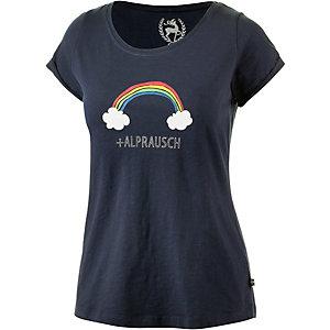 Alprausch Rägebogen Printshirt Damen navy
