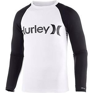 Hurley One&Only LS Rash Guard Surf Shirt Herren weiß/schwarz