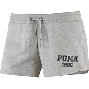PUMA Shorts Damen hellgrau/melange