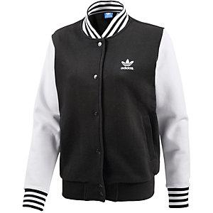 adidas Collegejacke Damen schwarz/weiß
