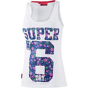 Superdry Tanktop Damen weiß/blau