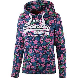 Superdry Sweatshirt Damen blau/rosa