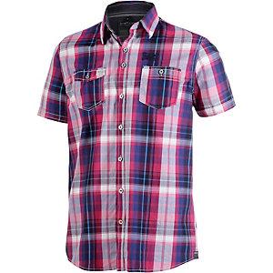 Twinlife Kurzarmhemd Herren dunkelblau/pink