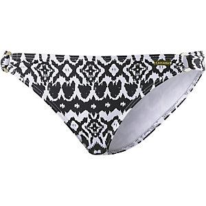 Lascana Grace Bikini Hose Damen schwarz/weiß Ethno