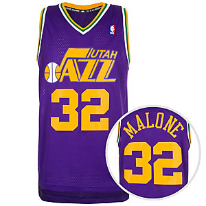 adidas Utah Jazz Malone Swingman Basketball Trikot Herren lila / orange