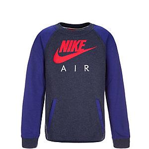 Nike Brushed Fleece Crew Sweatshirt Kinder blau / rot / weiß