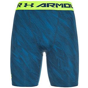 Under Armour HeatGear Armour Printed Compression Shorts Herren blau / gelb