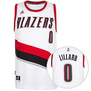 adidas Portland Trail Blazers Lillard Swingman Basketball Trikot Herren weiß / rot / schwarz