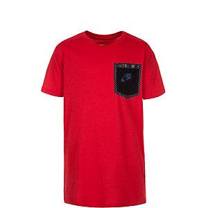Nike Tech Funktionsshirt Kinder rot / schwarz