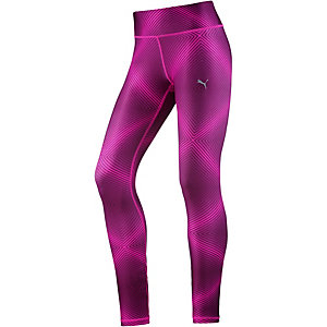 PUMA All Eyes On Me Tights Damen dunkellila/pink