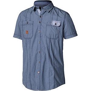 Twinlife Kurzarmhemd Herren blau