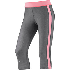 Under Armour Heatgear Tights Damen grau/koralle
