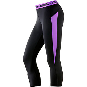 Under Armour Heatgear Tights Damen schwarz/lila