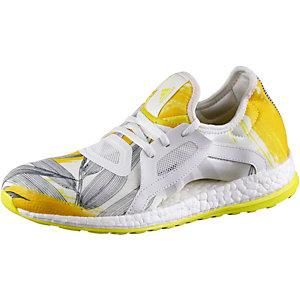 adidas Pure Boost X Laufschuhe Damen weiß/gelb