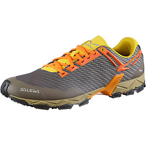 SALEWA MS Lite Train Mountain Running Schuhe Herren braun/gelb/orange