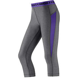 Under Armour Heatgear Tights Damen grau/lila