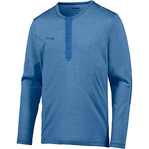 Bergans Henley Wool Funktionsshirt Herren blau