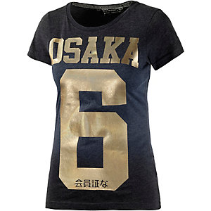 Superdry Printshirt Damen navy/gold