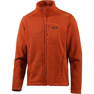 jack wolfskin caribou track strickfleece herren orange im. Black Bedroom Furniture Sets. Home Design Ideas
