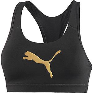 PUMA Sport-BH Damen schwarz/gold
