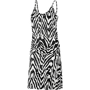 VENICE BEACH Trägerkleid Damen schwarz/weiß/allover