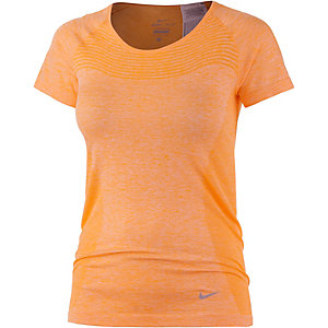 Nike Dri-Fit Knit Funktionsshirt Damen orange