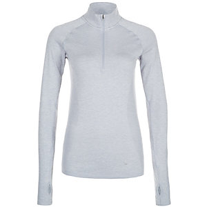 Nike Dri-FIT Knit 1/2 Laufshirt Damen grau / silber