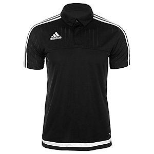 adidas Tiro 15 Poloshirt Herren schwarz / weiß
