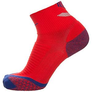 Nike Elite Cushion Quarter Laufsocken rot / blau