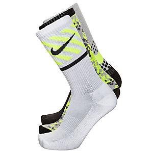 Nike Sportsocken Jungen grau / schwarz / lime