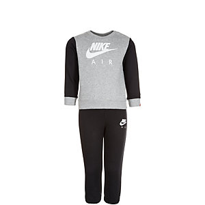 Nike Brushed Fleece Trainingsanzug Kinder grau / schwarz