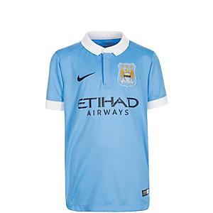 Nike Manchester City Home Stadium 2015/2016 Fußballtrikot Kinder hellblau / weiß