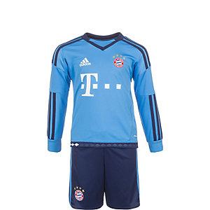 adidas FC Bayern München Heim Fußballtrikot Kinder hellblau / dunkelblau