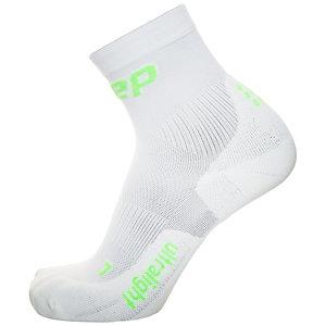 CEP Ultralight Short Laufsocken Damen weiß / grün