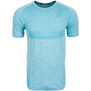 Nike Dri-FIT Knit Laufshirt Herren hellblau / silber