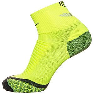 Nike Elite Cushion Quarter Laufsocken lime / anthrazit