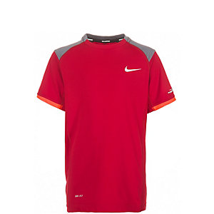 Nike Miler Crew Laufshirt Jungen rot / grau / orange