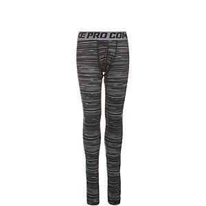 Nike Pro Combat Hyperwarm Hazard Tights Jungen schwarz / grau