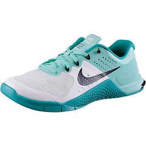 Nike Metcon 2 Fitnessschuhe Damen blau/weiß
