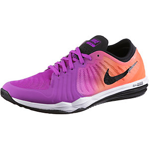 Nike Dual Fusion Trainer 4 Print Fitnessschuhe Damen lila/neonrot
