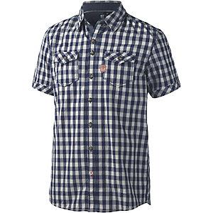 Twinlife Kurzarmhemd Herren blau/beige