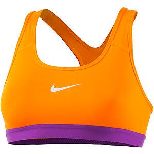 Nike Pro Classic Sport-BH Damen orange/lila