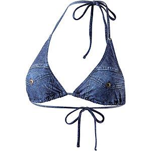 GUESS Bikini Oberteil Damen jeansblau