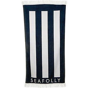 Seafolly Party Trick Strandtuch Damen indigo/weiß