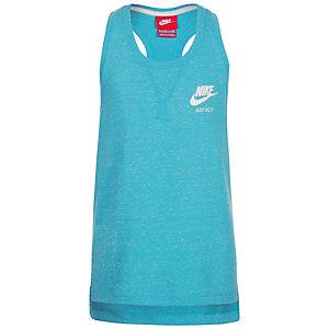 Nike Gym Vintage Funktionstank Kinder hellblau / weiß