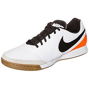 Nike Tiempo Genio II Leather Fußballschuhe Herren weiß / orange