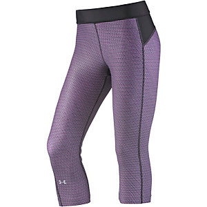 Under Armour Heatgear Tights Damen schwarz/flieder