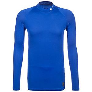 Nike Pro Dry Compression Mock Kompressionsshirt Herren dunkelblau / weiß