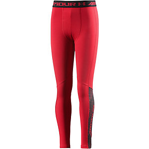 Under Armour Tights Jungen rot/schwarz
