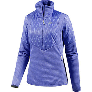 Salomon Elevate Winter Funktionsshirt Damen lilablau